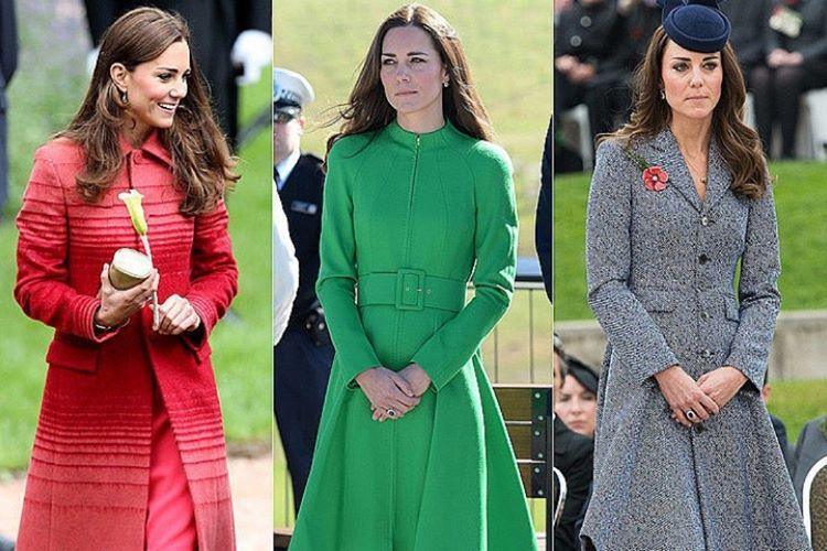 Hem Meghan hem de Kate klasik renkleri parlak tonlarla kombine etmekten uzak duruyor.