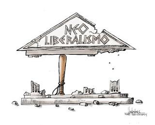 Resultado de imagem para neoliberalismo charge