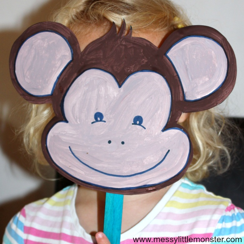 monkey craft for preschoolers