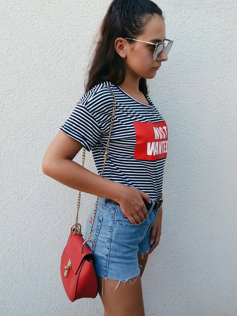 ps minimalist blog,personal style and beauty blogger valentina batrac,teen fashion bloggers,hrvatske modne blogerice,summer blogger style,summer 2017 fashion,striped top and high waisted shorts outfit ideas,how to wear high waisted shorts