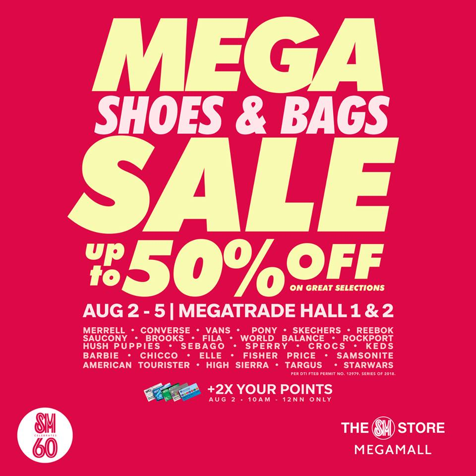 776cbc84e11 Check out the Mega Shoes   Bags SALE on August 2-5