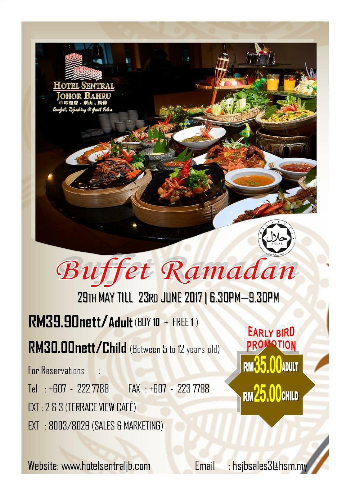 hotel sentral jb buffet ramadhan