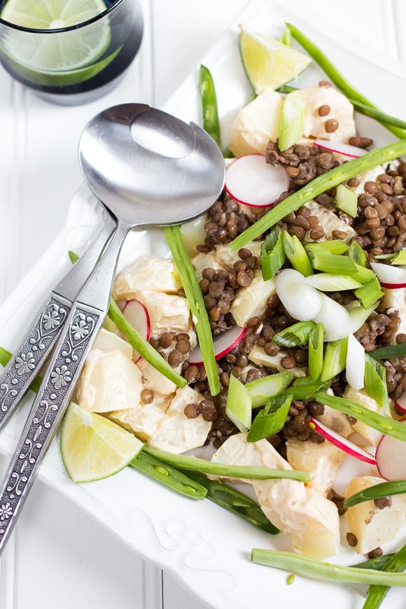 Indian Lentil and Potato Salad