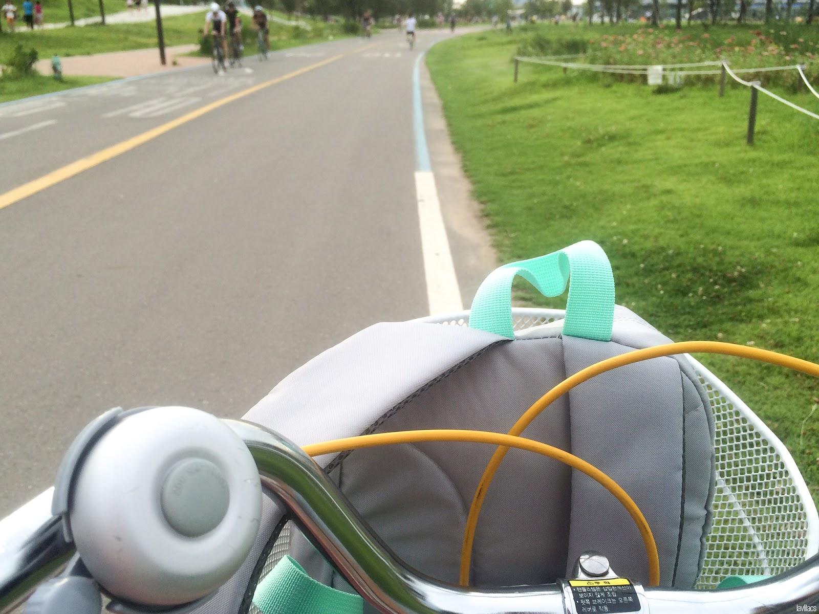 Seoul, Korea - Summer Study Abroad 2014 - Biking in Yeouido Park