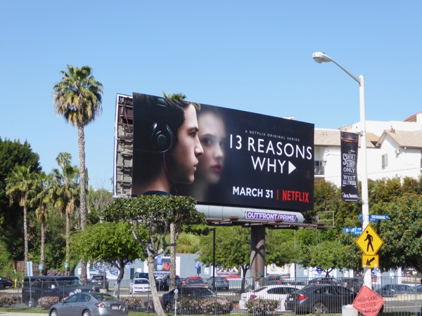 13 Reasons Why series premiere billboard