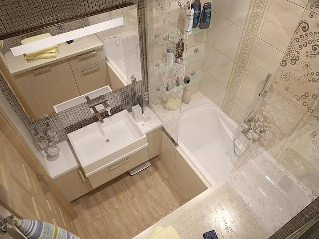Phòng tắm nhỏ- mẫu 1