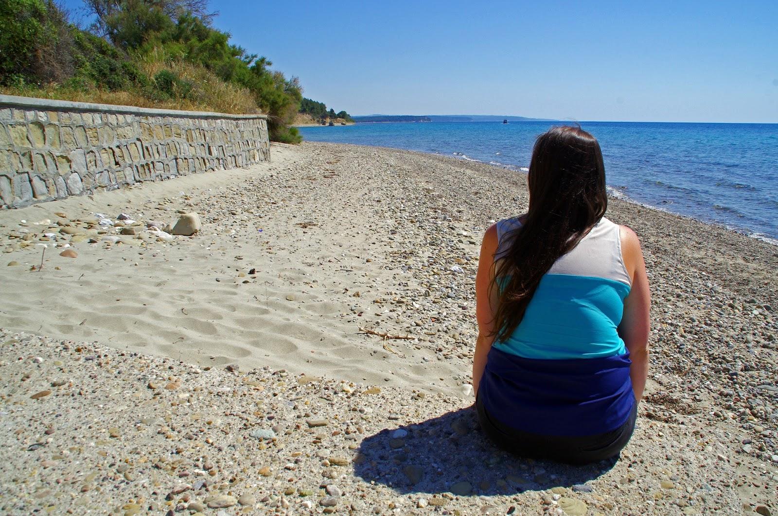Girl at Anzac Cove Gallipoli