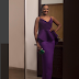 Actress Kate Henshaw looks so elegant in purple