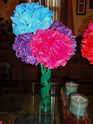 Sisters On Blackwell Tissue Paper Flowers And Fashion Vases