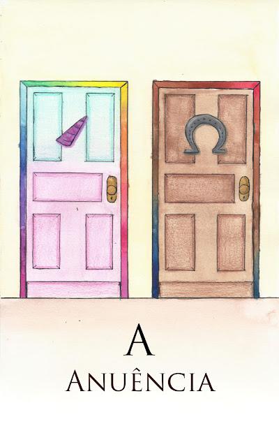 """Conto """"A Anuência"""", escrito por Fernando Paladini e capa criada por Camila Marques e Silva."""