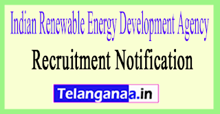 Indian Renewable Energy Development Agency IREDA Recruitment Notification 2017