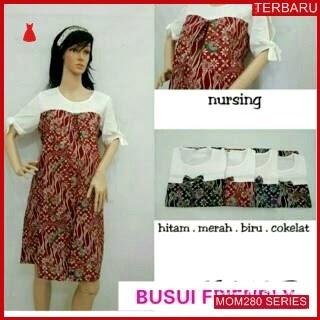 MOM280D17 Dress Hamil Batik Cantik Menyusui Dresshamil Ibu Hamil