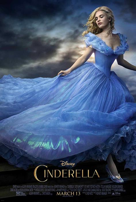 Lily James în primul poster al filmul Cinderella