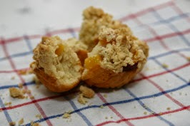 http://www.food.com/recipe/peach-melba-muffins-127213