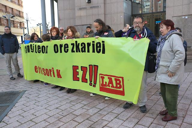 Protesta del sindicato LAB