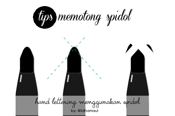 tips memotong spidol untuk lettering