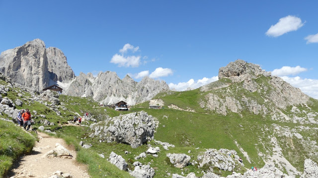Höhenwanderung am Rosengarten, Dolomiten mit Rotwandhütte
