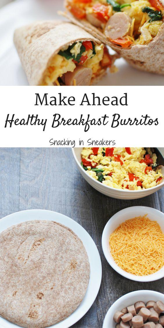 Make Ahead Breakfast Burritos (Easy, Cheap, Healthy) #burrito #breakfast