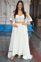 Telugu Actress Amyra Dastur Stills in White Skirt and Blouse at Anandi Indira Production LLP Production no 1 Opening  0076.JPG