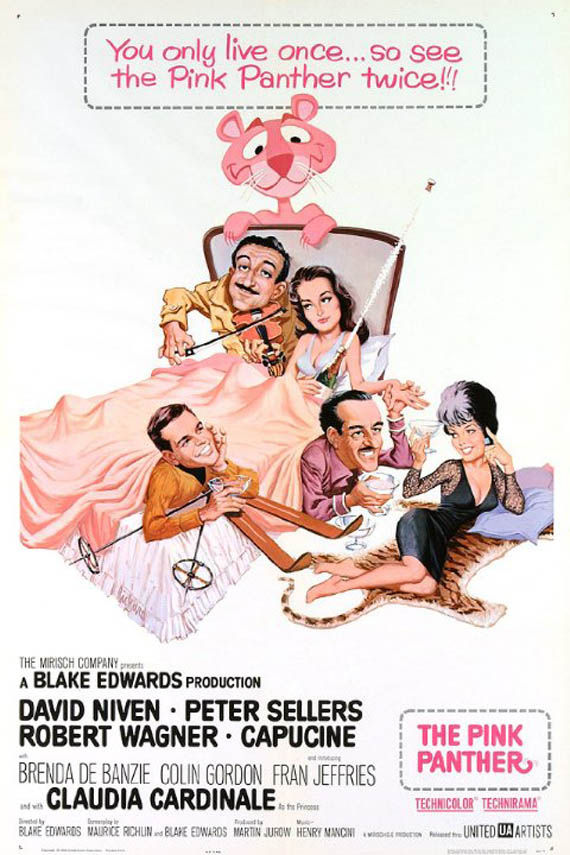 blake edwards the pink panther movie posters