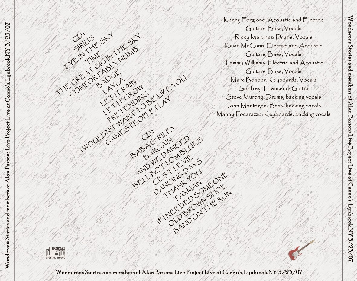 The Alan Parsons Project Wonderous Stories And Ex Members