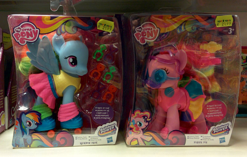 Fashion Style Rainbow Dash and Pinkie Pie Brushables