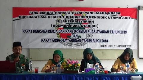 Rapat Anggota Tahunan Kosman Puas Syariah Tahun Buku 2018