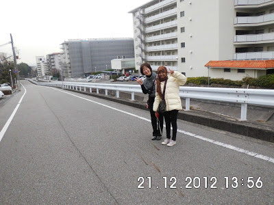 Suasana Jalanan di Jepang menuju stasiun