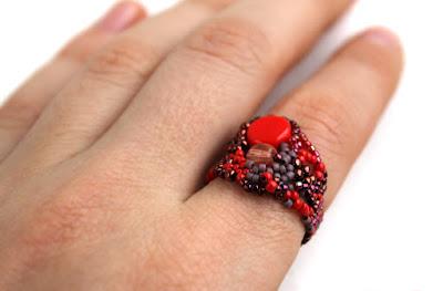 оригинальные женские кольца купить фриформ украшения из бисера