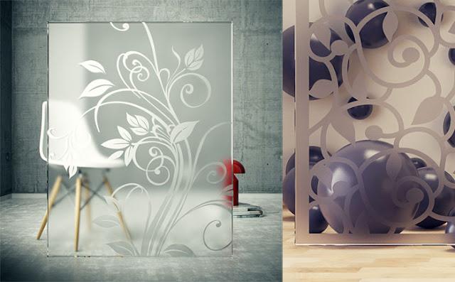 vetro satinato e serigrafie con Cinema4D e Vray