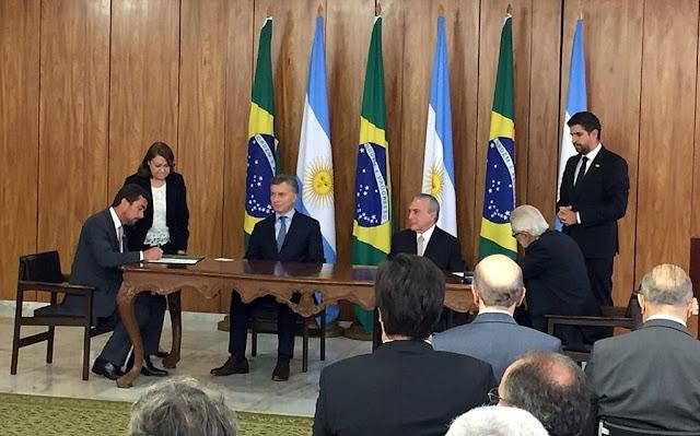 El presidente Macri llegó a Brasil para estrechar lazos bilaterales y relanzar el Mercosur