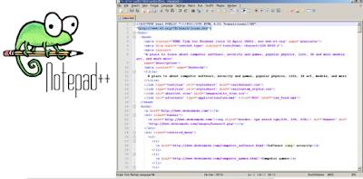 Aplikasi untuk mengedit bahasa web HTML