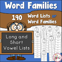 Word Families 90 Lists