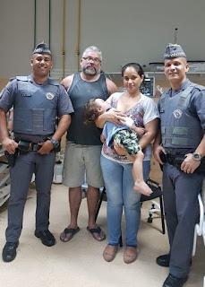 Policiais Militares salvam bebê engasgado de 1 anos e sete meses em Registro-SP
