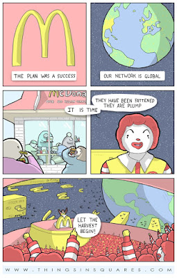macdonalds is alien takeover invasion plan funny cartoon