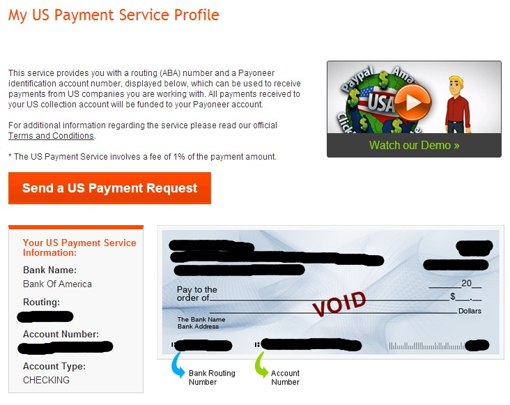 My US Payment Service Profile