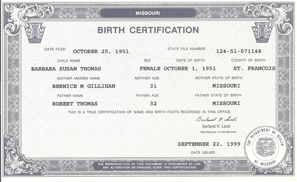 Jobs insurance for Real birth certificate template