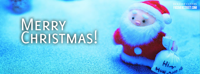 Cute Santa Facebook Cover Banner For Christmas