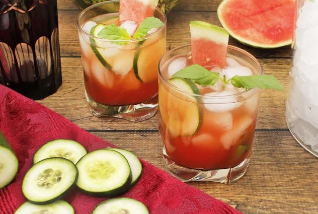 Watermelon & Cucumber Mojitos #cocktail #summerdrink