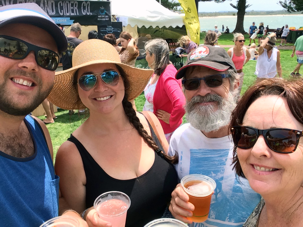 Family at Port Macquarie Tastings on Hastings Festival Day