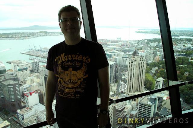 Foto de la ciudad de Auckland desde el observatorio de la Sky Tower