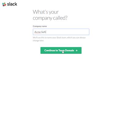 Slack - Décrire sa société