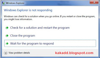 Mengatasi : Windows is not responding