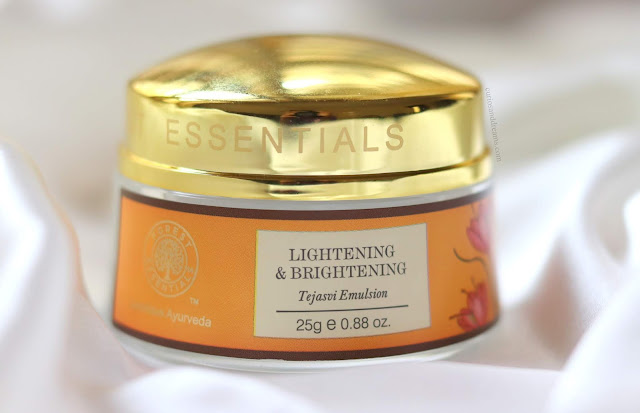 Forest Essentials Lightening & Brightening Tejasvi Emulsion review, Forest Essentials Tejasvi Emulsion, Forest Essentials Tejasvi Emulsion review