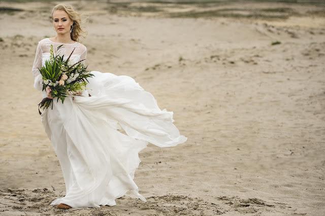 Suknia ślubna boho chic