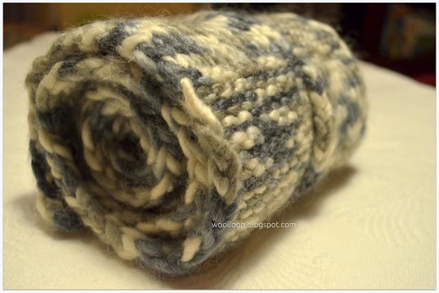 męski szalik na drutach