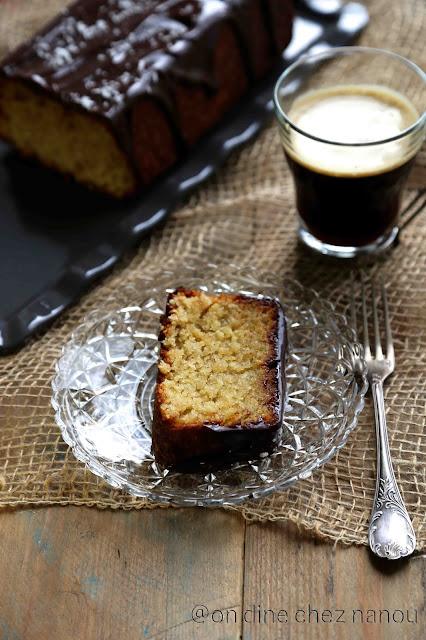 cake sans farine , noix de coco , poudre d'amandes , ganache chocolat , gluten free