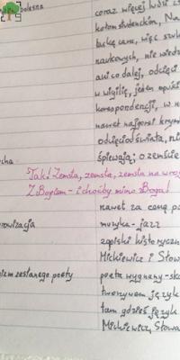 """zeszyt od polskiego, ,,Dziady"""" cz.III, Adama Mickiewicza, ,,Tak! Zemsta, zemsta, zemsta na wroga/ Z Bogiem - i choćby mimo Boga!"""""""