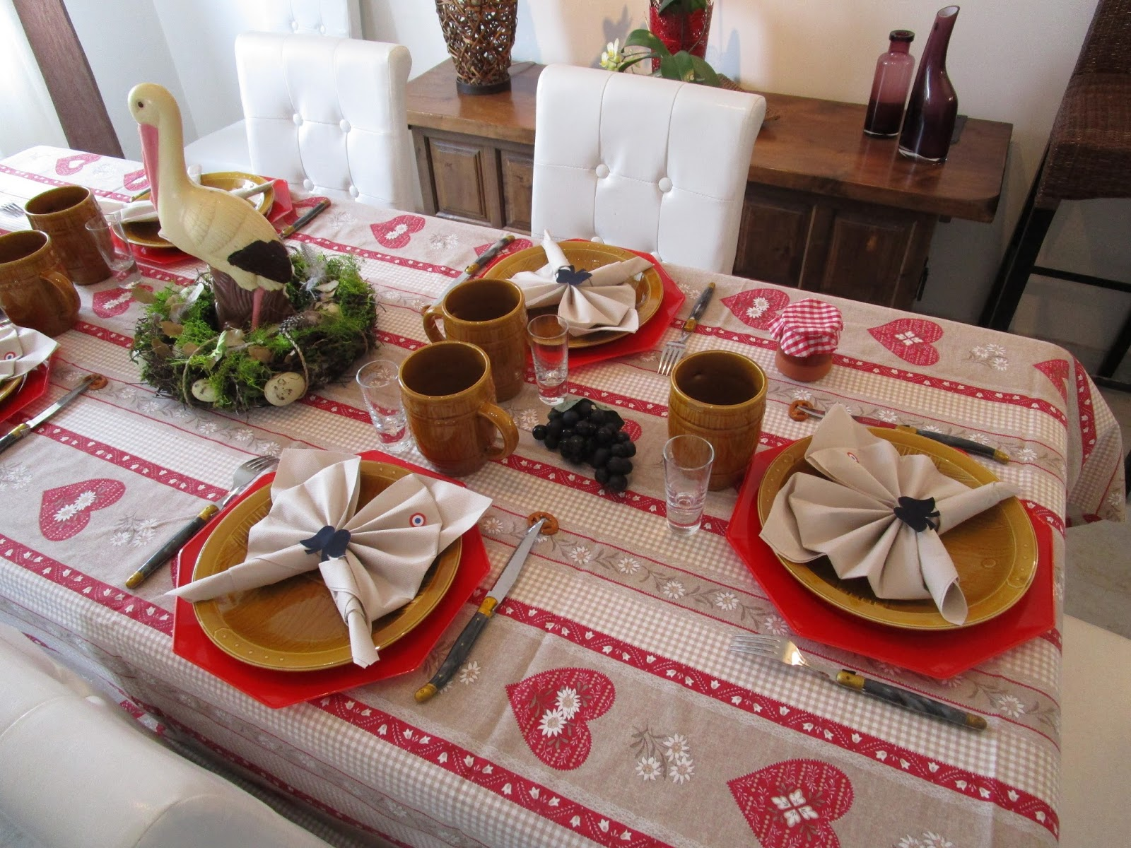 Une d co de table alsacienne d co de table th mes for Decoration de noel en alsace