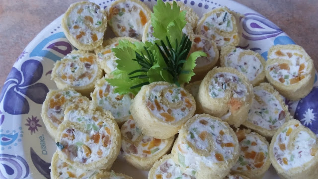 Celery, Apricot and Pecan Pinwheels
